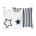 Starry Night Stars and Moons Decorative Stars and Moons Accent Throw Pillow
