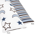 Full Length Double Zippered Body Pillow Cover for Starry Night Bedding Set