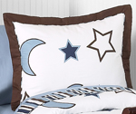 Starry Night Stars and Moons Pillow Sham