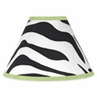 Lime Funky Zebra Lamp Shade by Sweet Jojo Designs