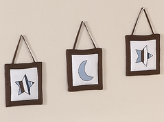 Starry Night Stars and Moons Wall Hanging Accessories by Sweet Jojo Designs