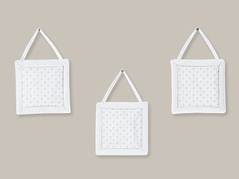 Solid White Minky Dot Wall Hanging Accessories by Sweet Jojo Designs