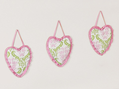Pink and Lime Juliet Wall Hanging Accessories by Sweet Jojo Designs