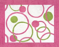 Circles Pink and Green Accent Floor Rug