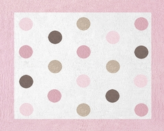 Pink and Brown Mod Dots Accent Floor Rug