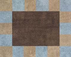 Soho Blue and Brown Accent Floor Rug