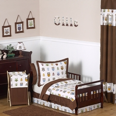 Night Owl Toddler Bedding - 5 pc Set