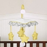 Yellow and Gray Chevron Zig Zag Musical Baby Crib Mobile by Sweet Jojo Designs