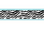 Turquoise Funky Zebra Baby, Kids and Teens Wall Paper Border by Sweet Jojo Designs