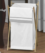 Baby/Kids Clothes Laundry Hamper for White and Gray Hotel Bedding by Sweet Jojo Designs