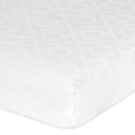 Fitted Crib Sheet for White Diamond Jacquard Modern Baby/Toddler Bedding by Sweet Jojo Designs - Jacquard