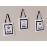 Purple, Black and White Princess Wall Hanging Accessories by Sweet Jojo Designs