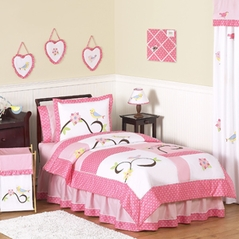Song Bird Childrens and Kids Bedding - 4pc Twin Set by Sweet Jojo Designs