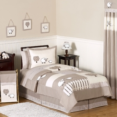 Little Lamb Childrens and Kids Bedding - 4pc Twin Set by Sweet Jojo Designs