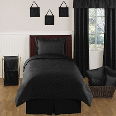 Black Diamond Jacquard Modern Childrens and Kids Bedding - 4pc Twin Set by Sweet Jojo Designs