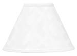 White Diamond Jacquard Modern Lamp Shade by Sweet Jojo Designs