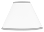 White and Gray Modern Hotel Lamp Shade by Sweet Jojo Designs
