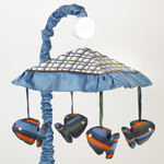 Tropical Hawaiian Musical Baby Crib Mobile for Sweet Jojo Designs Surf Bedding