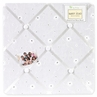 White Eyelet Fabric Memory/Memo Photo Bulletin Board