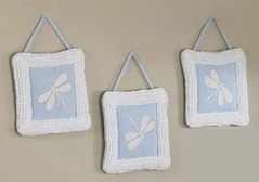 Dragonfly Dreams Blue Wall Hanging Art Decor 3 Piece Set