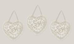 Champagne and Ivory Victoria Wall Hanging Accessories by Sweet Jojo Designs