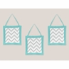 Turquoise and Gray Chevron Zig Zag Wall Hanging Accessories by Sweet Jojo Designs