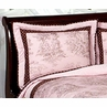 Pink and Brown Toile and Polka Dot Pillow Sham