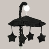 Solid Black Minky Dot Musical Baby Crib Mobile by Sweet Jojo Designs