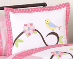 Song Bird Pillow Sham by Sweet Jojo Designs
