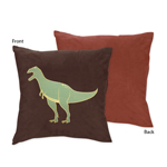 Dinosaur Decorative Accent Throw Pillow by Sweet Jojo Designs