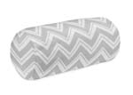 Black and Grey Chevron Zig Zag Collection Decorative Neckroll Bolster Pillow by Sweet Jojo Designs