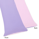 Pink and Purple Butterfly Full Length Double Zippered Body Pillow Case Cover by Sweet Jojo Designs