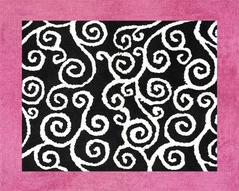 Pink and Black Madison Accent Floor Rug
