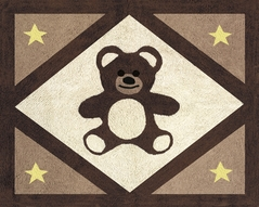 Chocolate Teddy Bear Accent Floor Rug