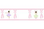 Ballet Dancer Ballerina Baby and Kids Wall Border by Sweet Jojo Designs