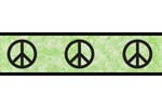 Lime Groovy Peace Sign Tie Dye Kids and Teens Wall Paper Border by Sweet Jojo Designs