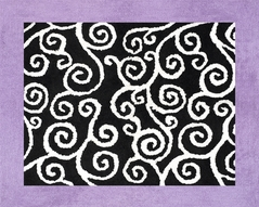 Purple and Black Kaylee Accent Floor Rug by Sweet Jojo Designs