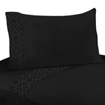 3 pc Twin Sheet Set for Black Diamond Jacquard Modern Bedding Collection by Sweet Jojo Designs