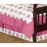 Pink Happy Owl Bed Skirt for Toddler Bedding Sets by Sweet Jojo Designs