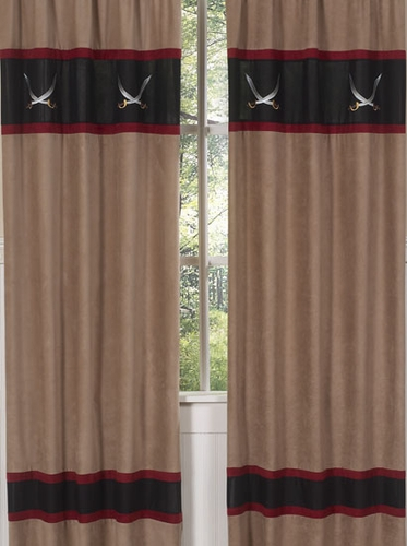 Treasure Cove Pirate Window Treatment Panels - Set of 2 - Click to enlarge