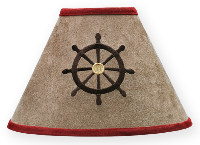 Treasure Cove Pirate Lamp Shade by Sweet Jojo Designs - Click to enlarge