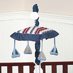 Nautical Nights Sailboat Musical Crib Mobile