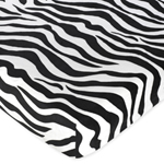 Funky Zebra Fitted Crib Sheet for Baby and Toddler Bedding Sets by Sweet Jojo Designs - Zebra Print Microsuede