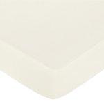 Fitted Crib Sheet for Baby and Toddler Bedding Sets by Sweet Jojo Designs - Solid Ivory Cotton
