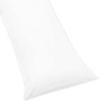 White Full Length Double Zippered Body Pillow Case 100% Cotton