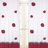 Red and White Polka Dot Ladybug Window Treatment Panels - Set of 2