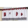 Red and White Ladybug Polka Dot Window Valance by Sweet Jojo Designs