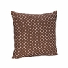Pink and Brown Mini Polka Dots Accent Throw Pillow