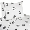 4 pc Queen Sheet Set for Groovy Peace Sign Bedding Collection