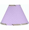 Purple and Brown Mod Dots Lamp Shade by Sweet Jojo Designs